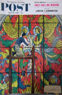 Saturday Evening Post � April 16, 1960 � Stained Glass Window Being Repaired
