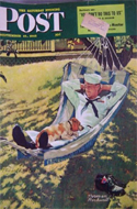 Saturday Evening Post � Sept 15, 1945 � Sailor in Hammock