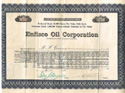 Stock certificate from Enfisco Oil Corporation
