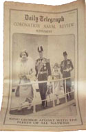 Daily Telegraph May 21, 1937 - King George inspects his navy in this coronation naval review supplement.