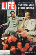Life Magazine January 14, 1966 - Vietnam's Ho Chi Minh and Pham Van Dong are on the cover