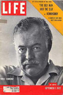 Life Magazine September 1, 1952 -Includes the first appearance of The Old Man And The Sea by Hemingway.