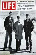 Life Magazine, 12 May 1967 - During the filming of In Cold Blood Truman Capote is shown with the films actors Robert Blake and Scott Wilson on set at the site of the crime in Kansas