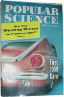 Popular Science October 1958 - World's first atomic scare & a space meal in a toothpaste tube.
