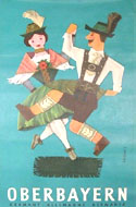 Vintage travel poster of Germany