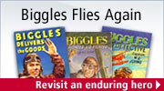 Biggles series created by Captain W.E. Johns