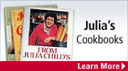 Cookbooks from the woman credited with truly introducing French cuisine to America, Julia Child.