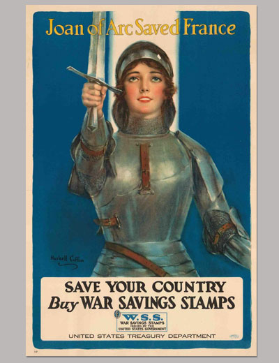 Joan of Arc Saved France: Save Your Country; Buy War Savings Stamps, Poster