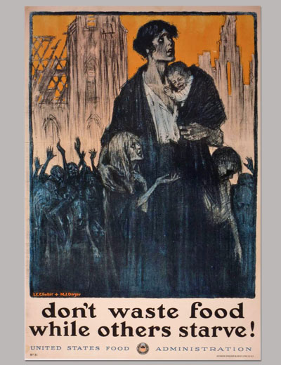 Don't Waste Food While Others Starve, Poster