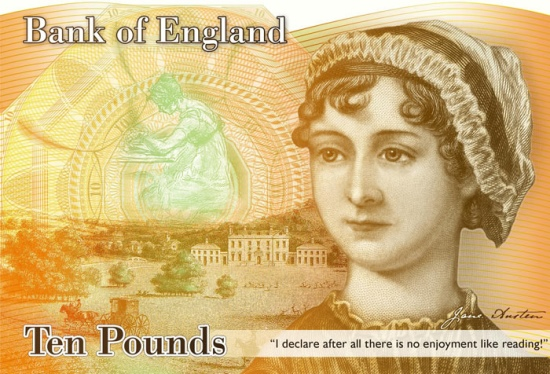 Jane Austen on the British £10 note