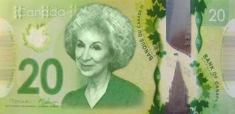 Margaret Atwood on the Canadian $10 note