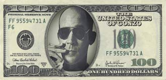 Hunter S. Thompson on the US $100 note