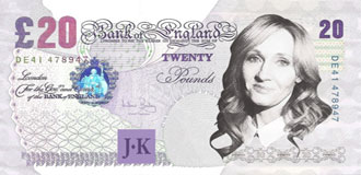 JK Rowling on the UK's £10