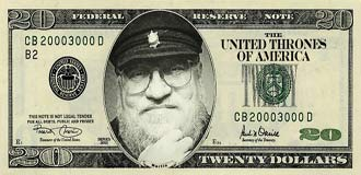 George RR Martin on the US $20 note