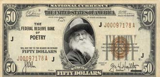 Walt Whitman on the US $50 note