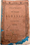 Chapman's New Zealand Almanac for leap-year 1860