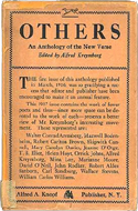 Others: An Anthology of the New Verse edited by Alfred Kreymborg (1917)