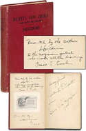 Elliott's Last Legacy: Secrets of the King by Harry Houdini - inscribed to fellow magician Gertrude Elliott