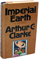 Imperial Earth by Arthur C. Clarke - inscribed to Psycho's Robert Bloch