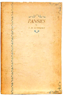 Pansies by D.H. Lawrence - inscribed to writer Norman Douglas