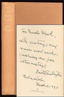 The World Does Move: An Autobiographical Narritive by Booth Tarkington - inscribed to Groucho Marx