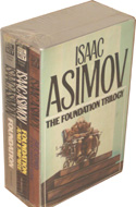 Isaac Asimov Box Set 5 Paperback Lot 1972 Fawcett Crest Book