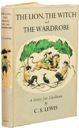 First edition of The Lion, The Witch and the Wardrobe by C.S. Lewis