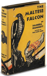 First edition of The Maltese Falcon by Dashiell Hammett