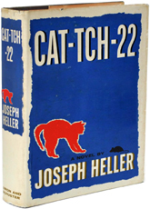 an interpretation of joseph hellers satire catch 22 Catch-22 is a law defined in various ways throughout the novel first, yossarian discovers that it is possible to be discharged from military service because of insanity.