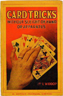 Card Tricks; Without Sleight of Hand of Apparatus by L. Widdop