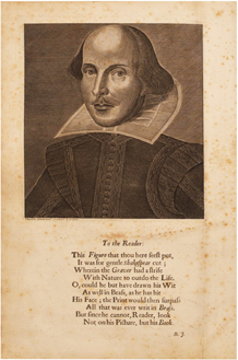 Comedies, Histories, and Tragedies (Fourth Folio) by William Shakespeare - Author Portrait