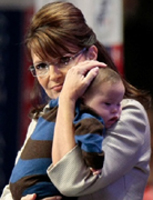 Sarah Palin and son
