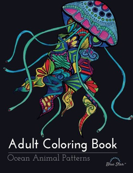 Adult Coloring Book Ocean Animal Patterns