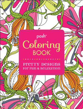 posh coloring book pretty designs for fun relaxation - Coloring Books