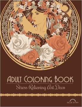 Adult Coloring Book Stress Relieving Art Deco