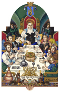 The Szyk Haggadah - The Family at the Seder by Arthur Szyk