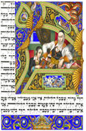 The Szyk Haggadah - The Four Questions by Arthur Szyk