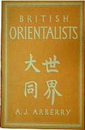 British Orientalists by Arthur J Arberry