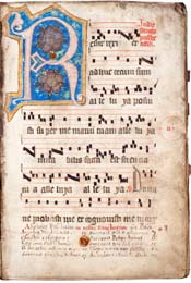 Dominican Gradual, Illuminated Liturgical Manuscript with Musical Notation
