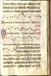 Noted Choir and Psalter Hymnal, Illuminated Manuscript in Latin with Music