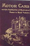 Motor Cars and the Application of Mechanical Power to Road Vehicles by Rhys Jenkins