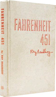First edition copy of an asbestos edition of Fahrenheit 451 by Ray Bradbury