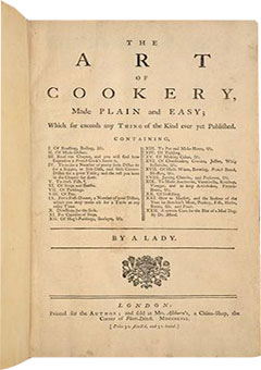 The Art of Cookery made Plain and Easy by Hannah Glasse