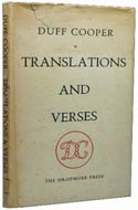 Translations and Verses by Duff Cooper