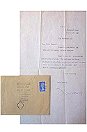 Letter from Doris Lessing