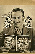 Signed photo of Walt Disney