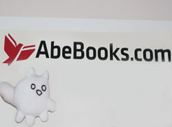 The Perogy Cat at AbeBooks Headquarters