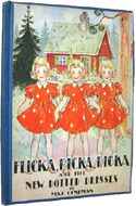 Flicka, Ricka, Dicka and the New Dotted Dress by Maj Lindman