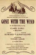 Gone with the Wind Movie Program