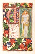 Illuminated manuscript A Dream of Fair Women by Alfred Lord Tennyson